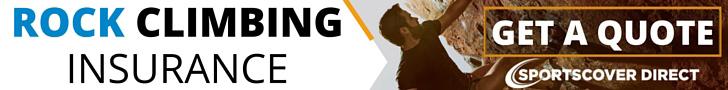 Rock Climbing Insurance Banner Ad - UKC