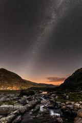 [Milky way above the Ogwen Valley.  © James Rushforth]