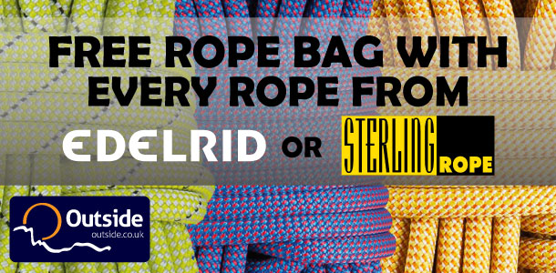 Free rope bag with any Edelrid or Sterling Rops