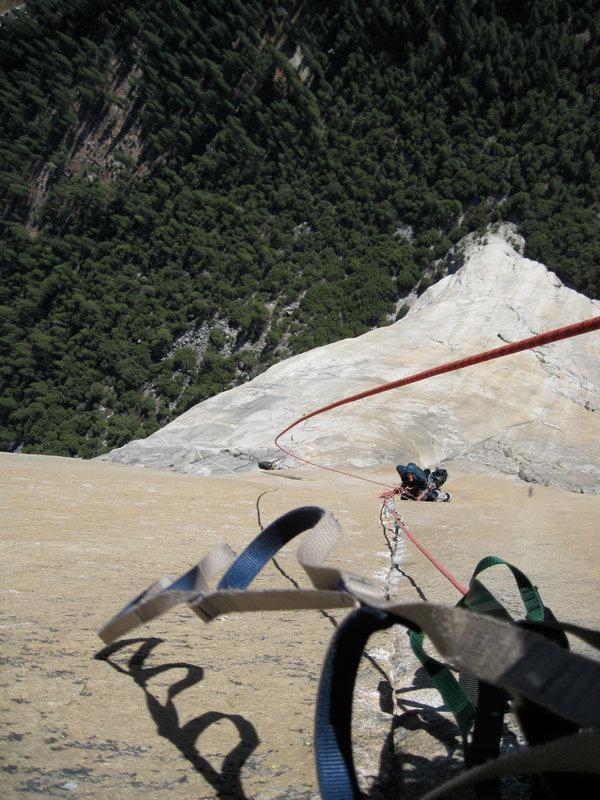Alex Haslehurst on El Cap, 156 kb