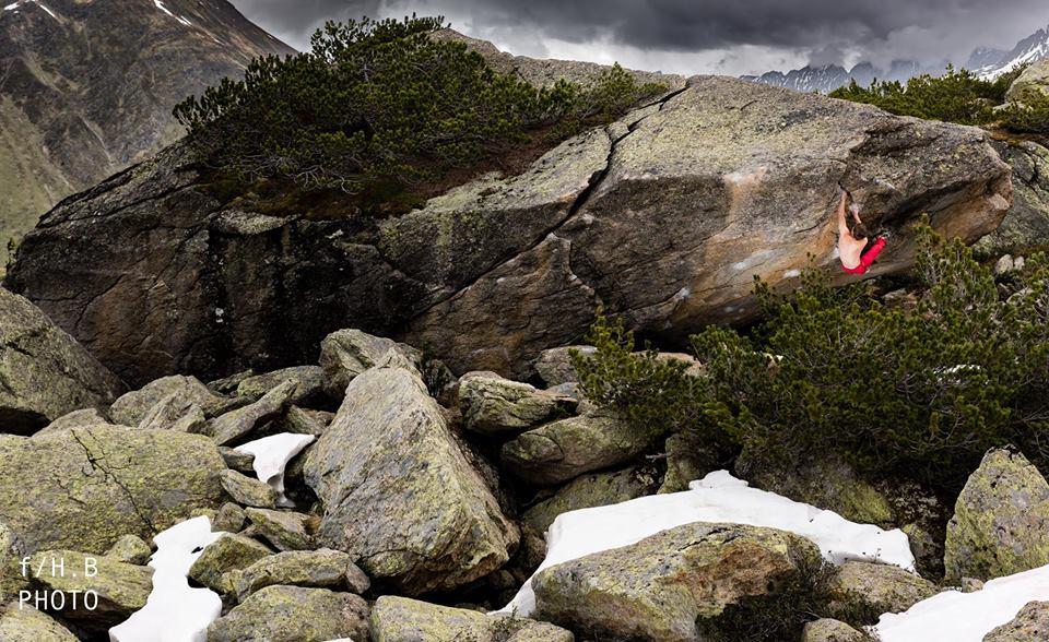 Christof Rauch on Anam Cara, ~8B+, Silvretta, Austria, 151 kb