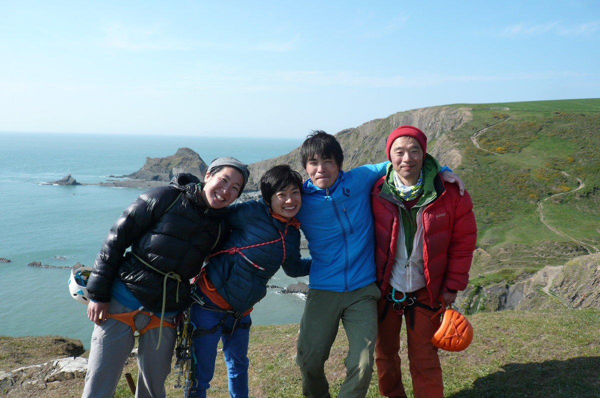 Japanese group in the South West: Sayaka, Naoko, Keita & Masa, 176 kb
