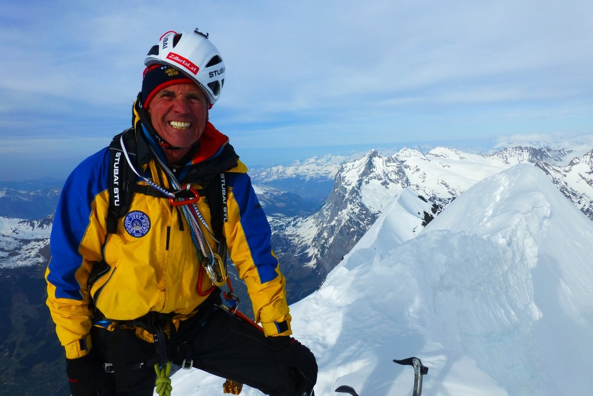 Peter on the summit of the Eiger, 136 kb