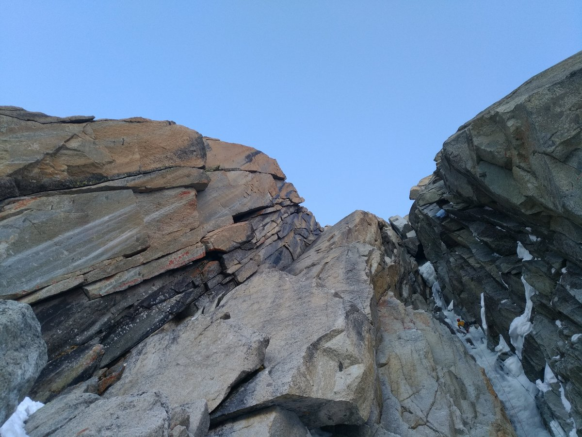 On the first ascent of Red Devils, M7, 207 kb