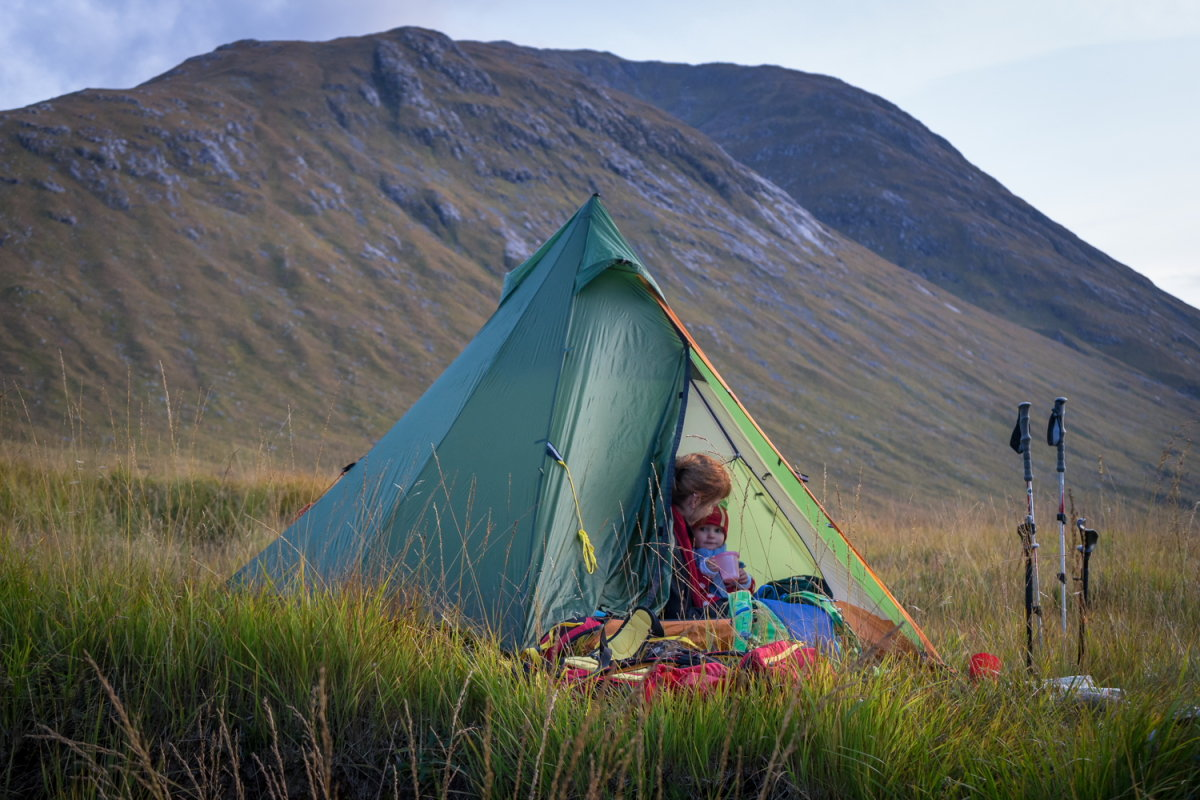 My daughter's first wild camp in Glen Etive. Soon to be out of bounds?, 209 kb