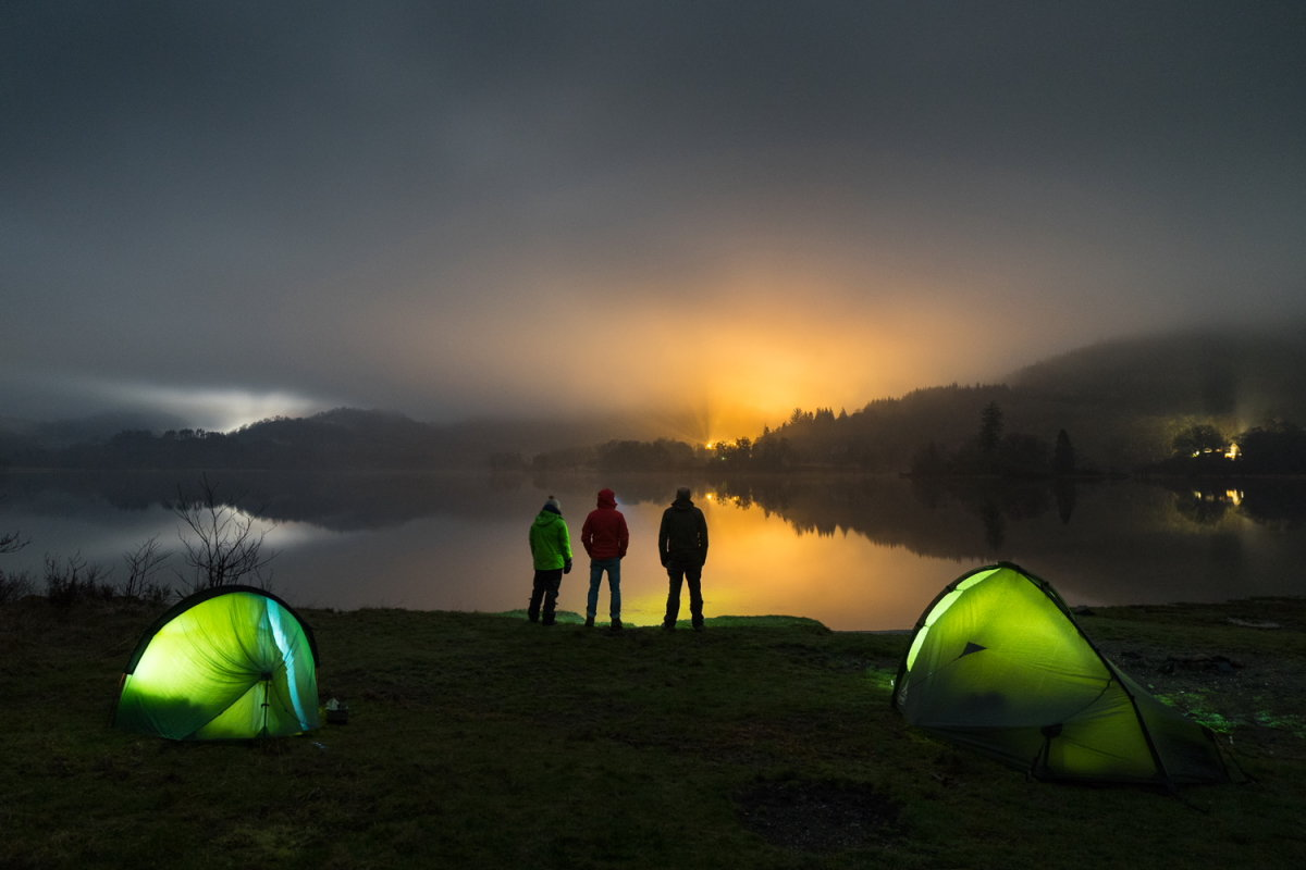 Illegal camping in the Loch Lomond Trossachs National Park, 105 kb