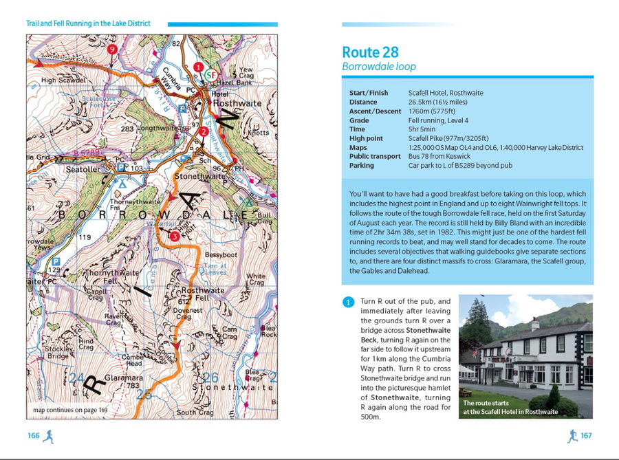 sample page lake district running guide, 152 kb