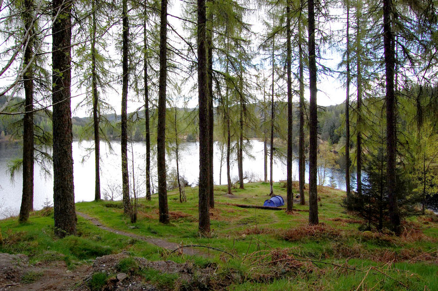 The solution? Camping permit area overlooking Loch Drunkie , 237 kb