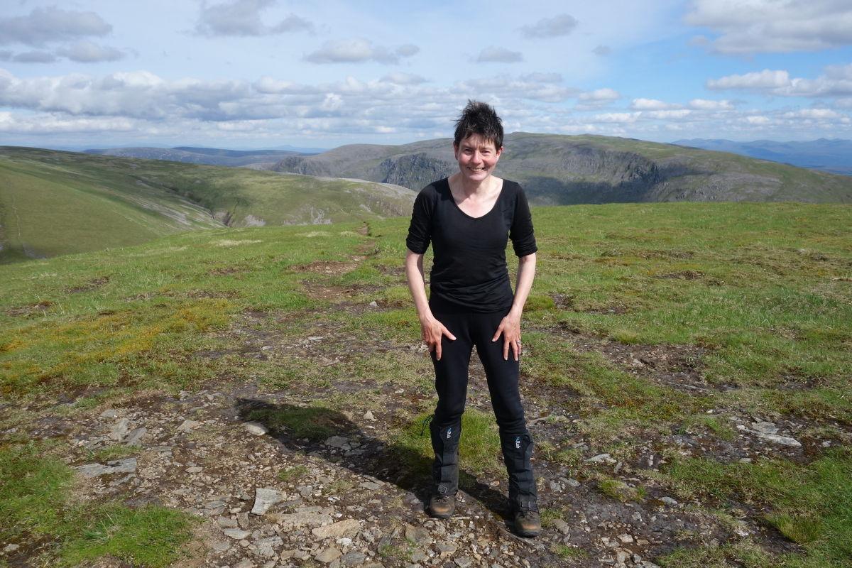 Hazel on the summit of Aonach Beag (nr Ben Alder), 215 kb
