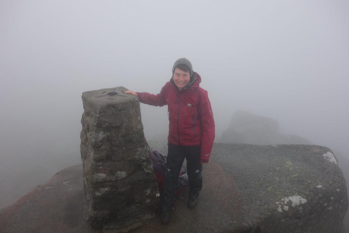 She's done it! Hazel on Lochnagar, Munro 100, 72 kb