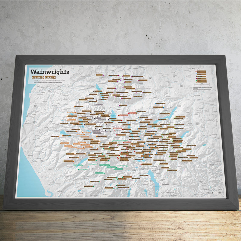 Wainwright Map framed, 179 kb