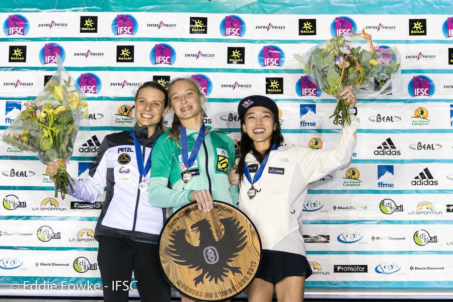 The women's podium - Briançon, 172 kb