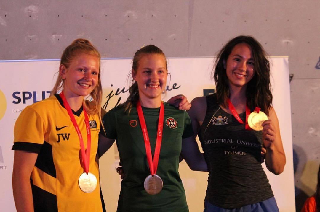 Ajda Remškar won Gold in the Boulder event and Jen Wood placed 2nd, 66 kb