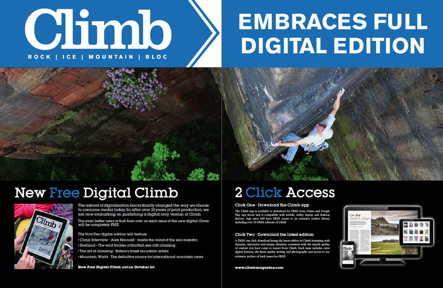 The new digital version of Climb will be available for free online, 147 kb