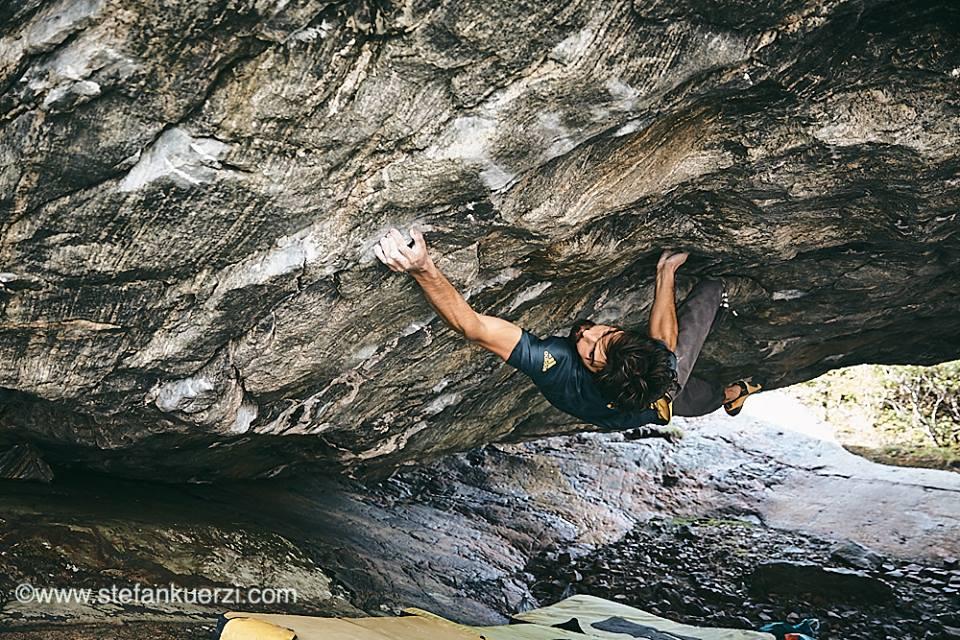 Niccolò Ceria on Shantaram, ~8C?, Osen, Norway, 173 kb