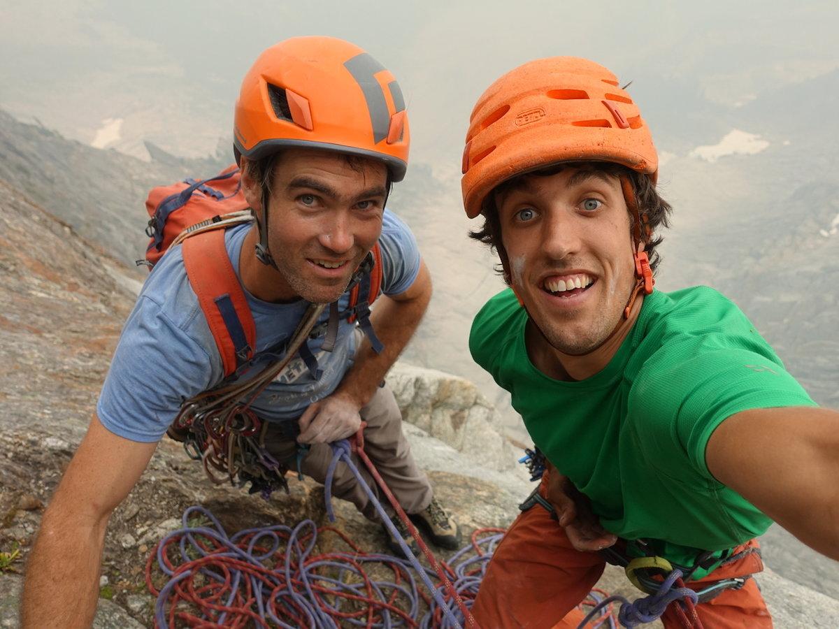 Tony McLane and Jacob Cook having fun on Mt. Slesse, 181 kb