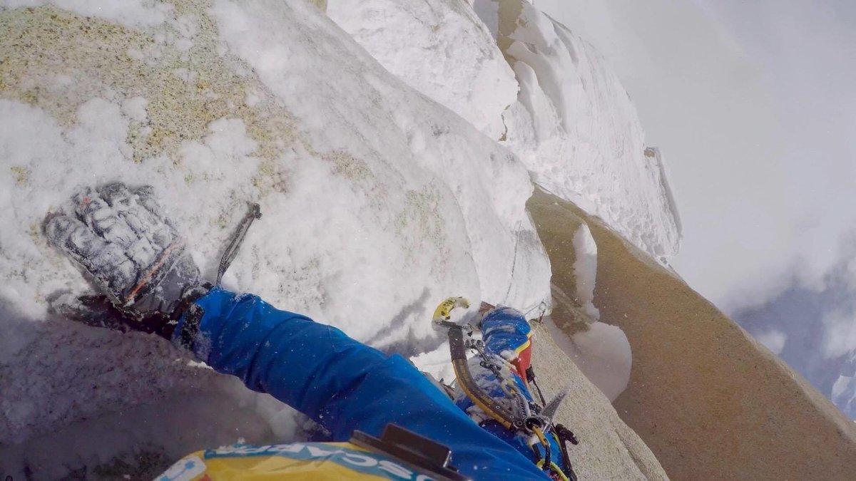 Wild exposure on Markus' winter solo of Aguja Guillaumet, 120 kb