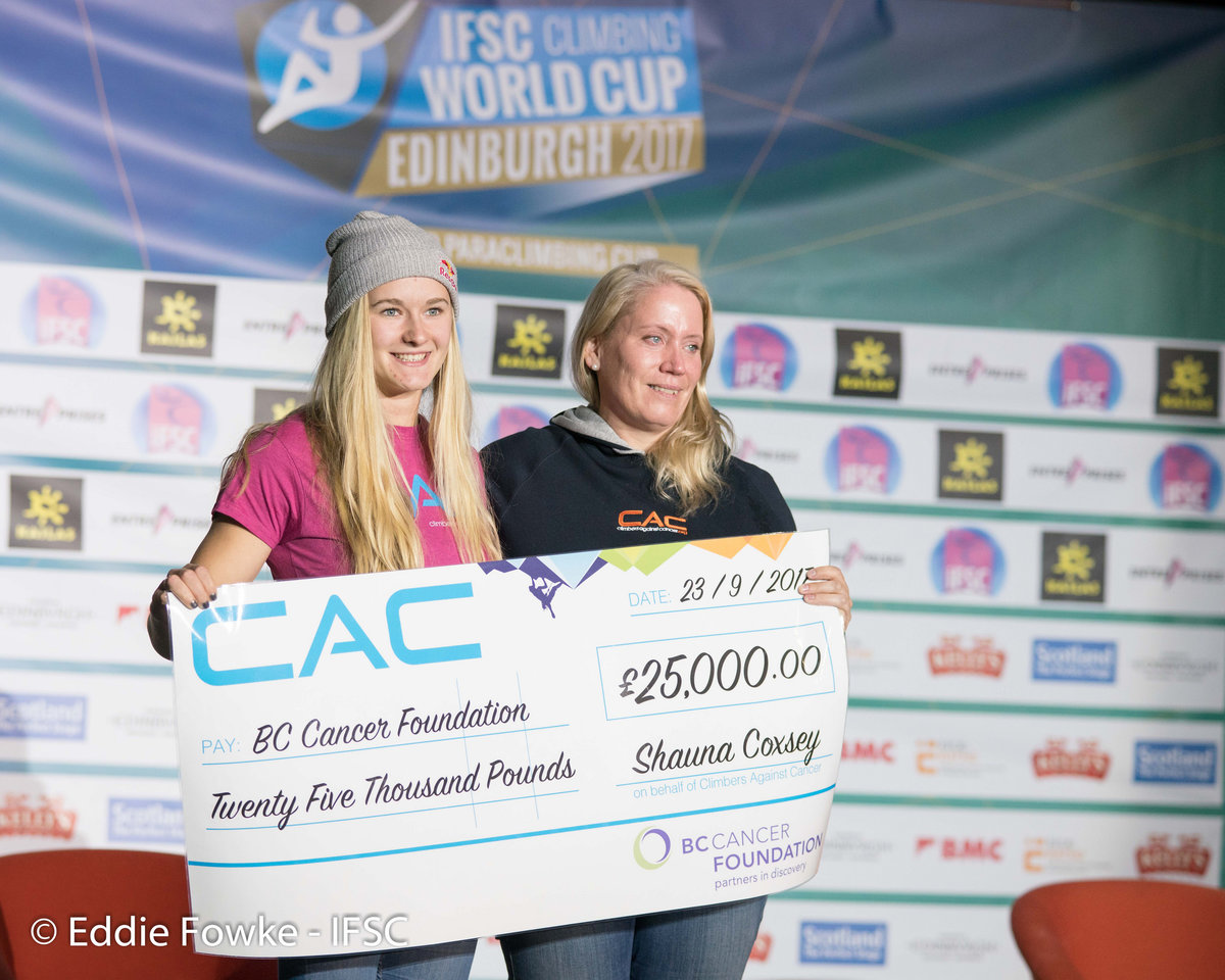 A donation was made by CAC to the British Columbia Cancer Foundation, 209 kb