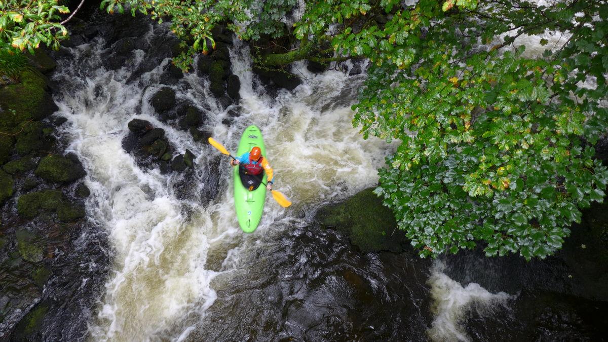 Kayaking down the Afon Ogwen through Bethesda., 222 kb