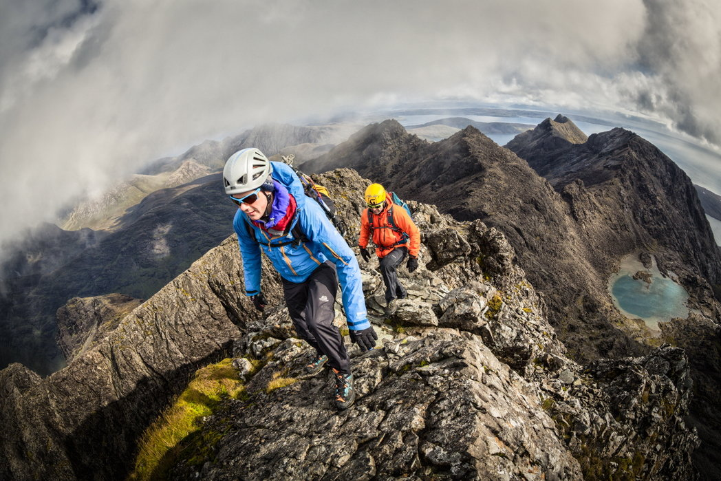 The Cuillin through a fisheye lens - the distortion accentuates the steepness and drama!, 227 kb