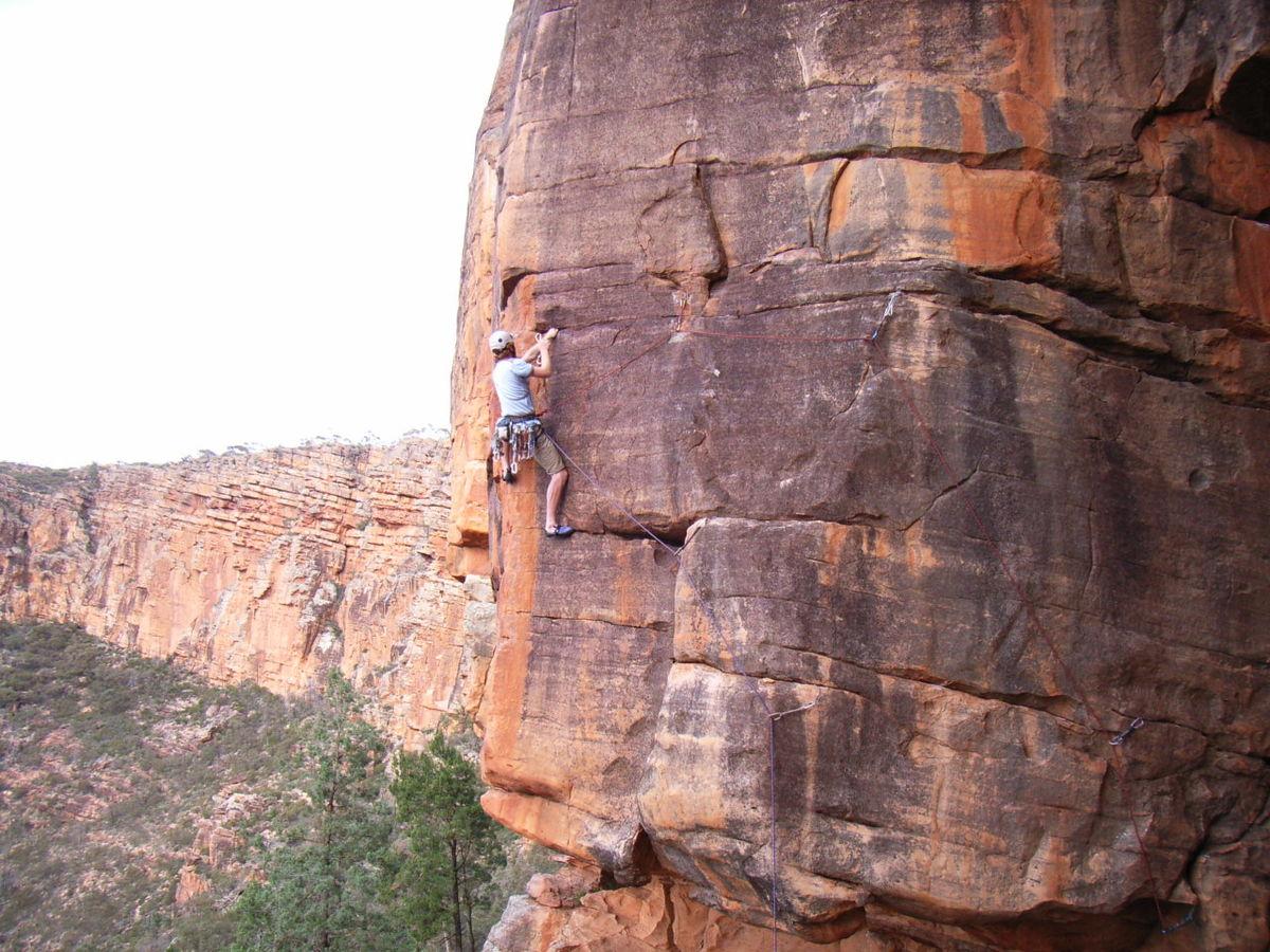 Unknown climber on Goblin Mischief., 240 kb