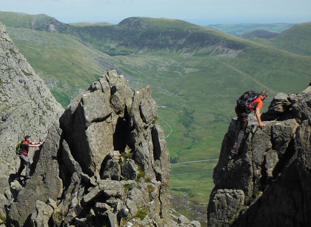 At Great Pinnacle Gap on the Bristly Ridge section of the Bochlwyd round, 208 kb