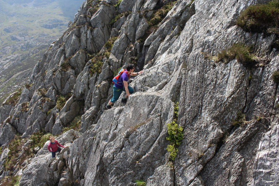 Great holds and excellent friction give Bastow Buttress the feel of Tryfan's more famous rock climbs, 180 kb