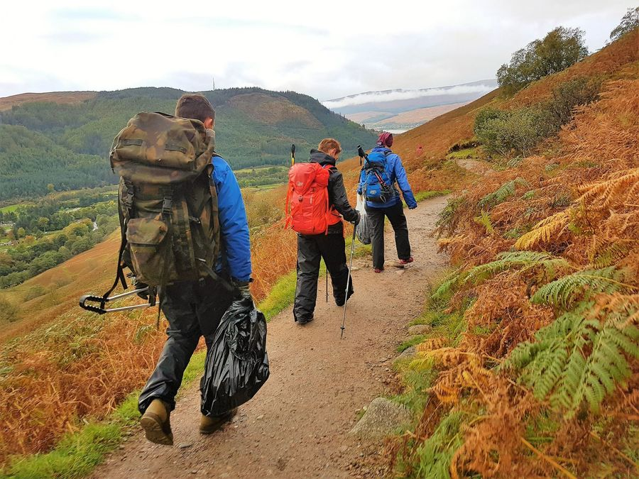 Volunteers came off Ben Nevis with, among other things, 4kg of chewing gum, 157 kb