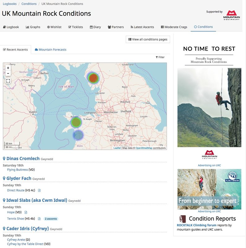 Mountain Rock Conditions Page, 110 kb