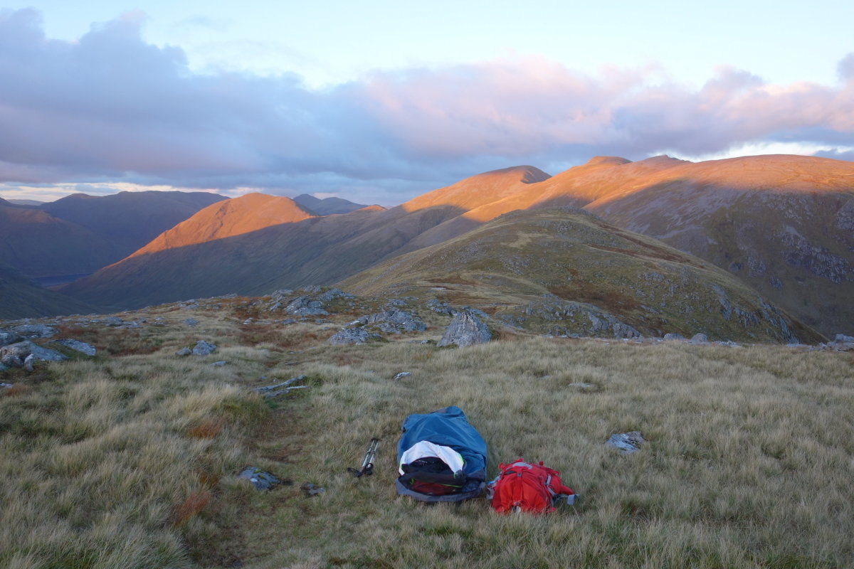 Bivvy in the Mullardoch hills, October 2016, 168 kb