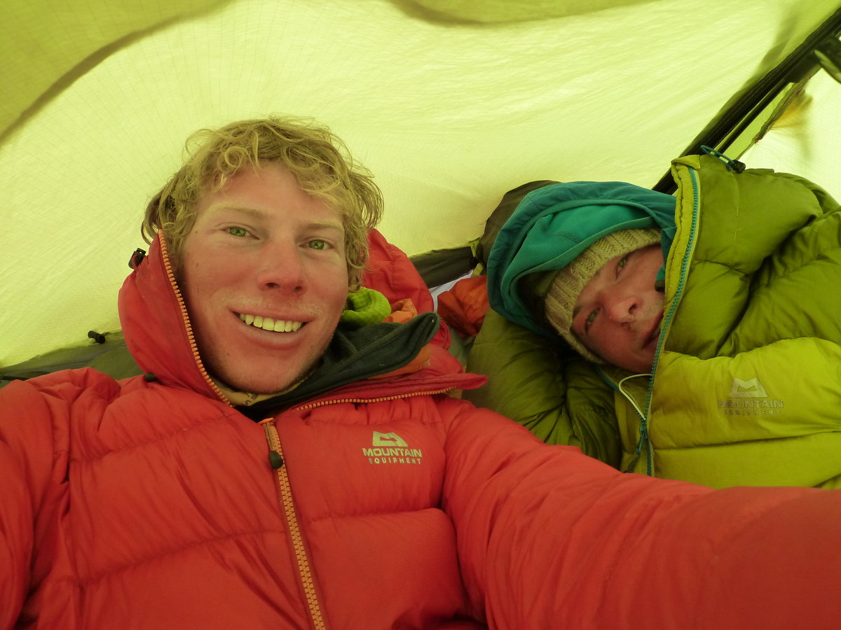Tired in the tent after an attempt on the Slovak Direct., 164 kb