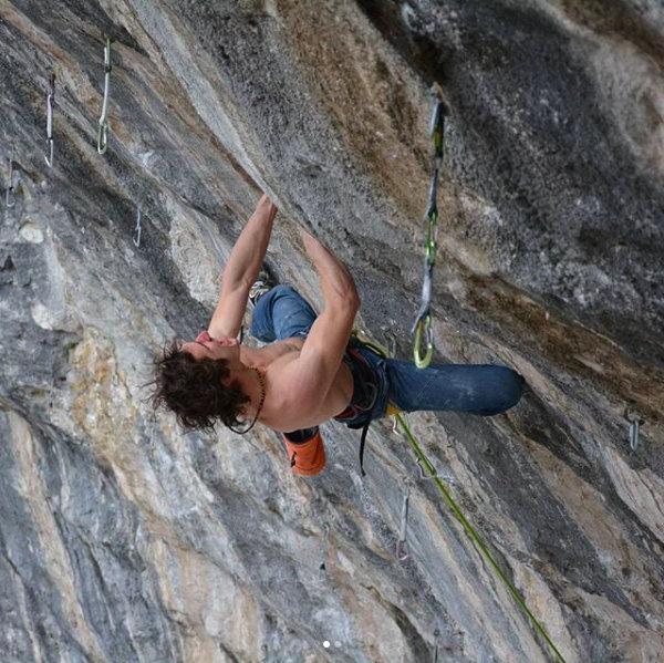Adam Ondra on One Punch/One slap, Arco, Italy, 114 kb