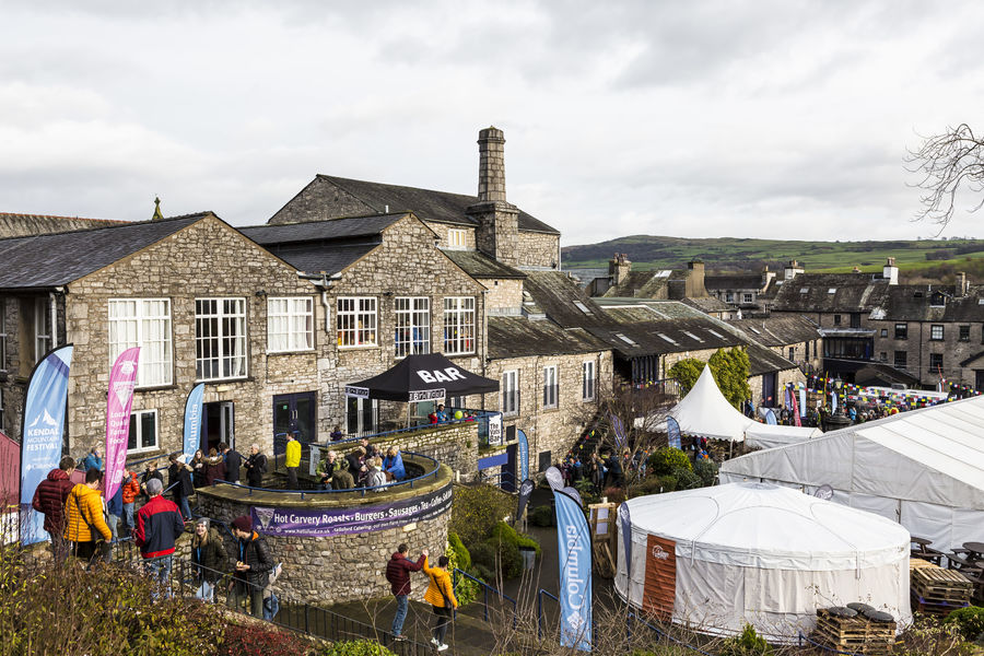 The Brewery Arts Centre, Lowe Alpine Yurt and the Basecamp Village were the festival hub., 174 kb