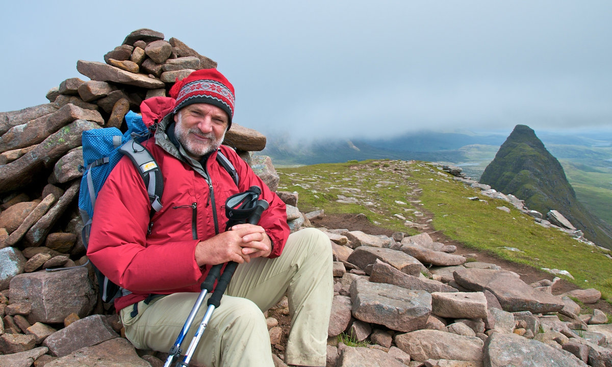 Cameron on Suilven at the start of the Sutherland Trail, 219 kb