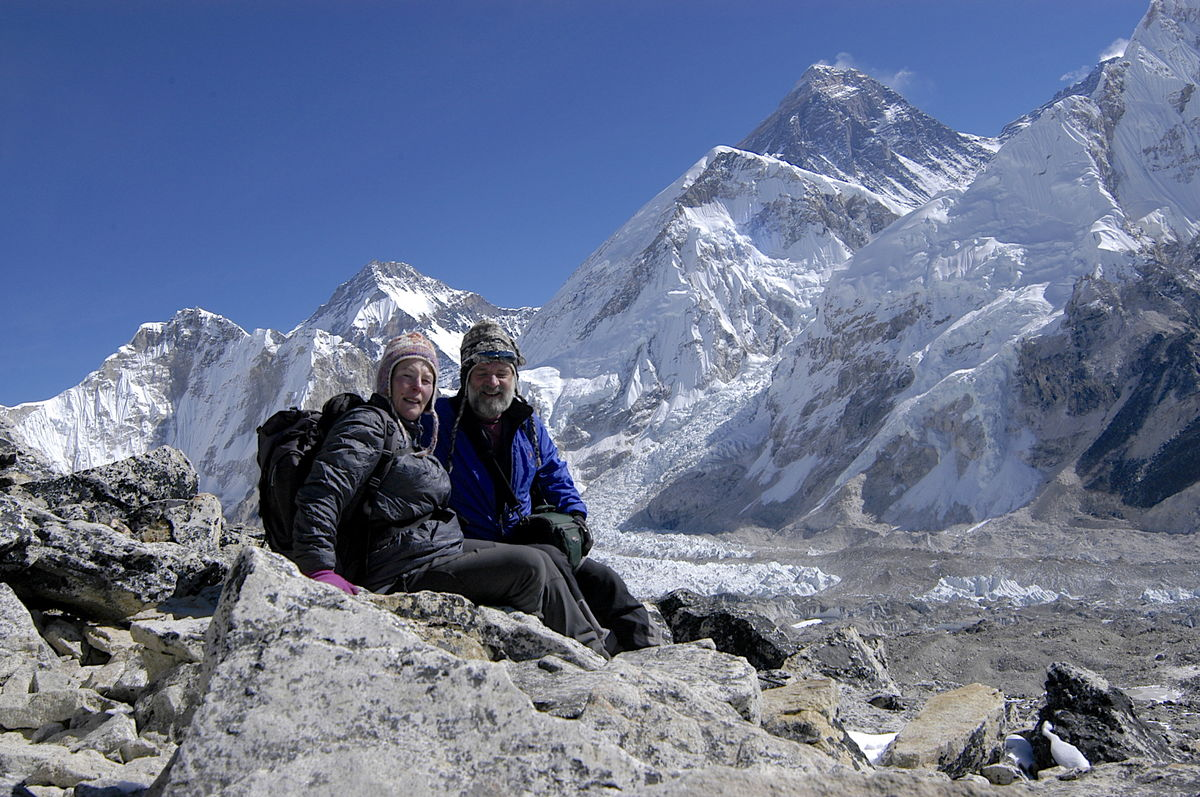 With Gina below Everest, 218 kb