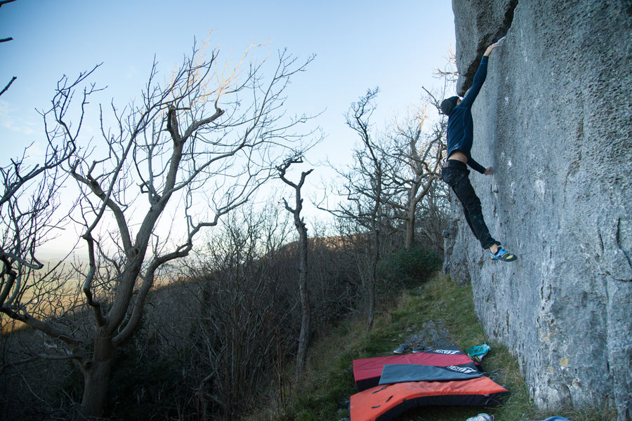 The Merino Xtreme certainly allows freedom of movement. It might have lifted a bit here but I am jumping! © UKC Gear