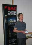 [Stu McAleese fronting the successful Expedition Symposium at Plas y Brenin, 2009., 2 kb]