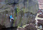 Ed Hamer, 3rd ascent of Silent Scream, Burbage South, Peak District UK, 4 kb